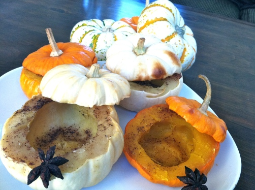 Roasted Mini Pumpkins by Cavemen Gourmet