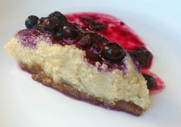 Cavemen Gourmet Blueberry Cheesecake